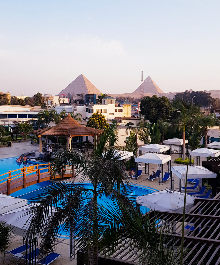 Our hotel's view to the pyramids