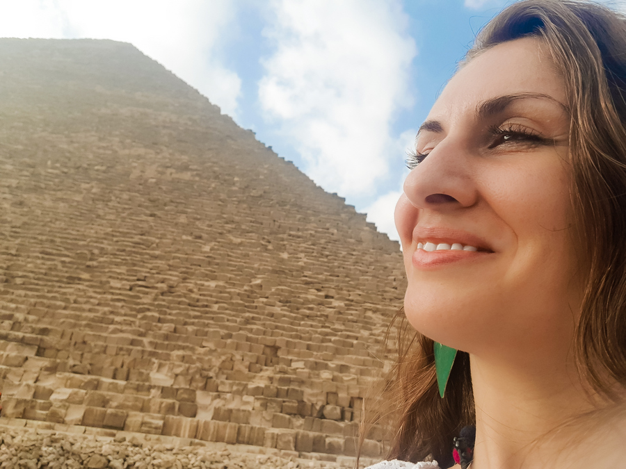 Stella at the Great Pyramid